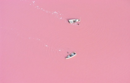 Lago Retba, no Senegal. Fonte: bioindustry