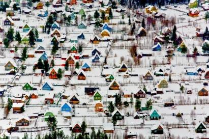 Vila perto de Arkhangelsk, na Rússia. Foto: Fedor Savintsev