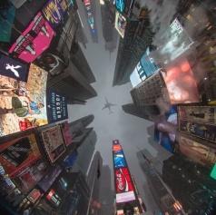 Vista diferente da Time Square, em Nova York. Foto: Andrew Thomas