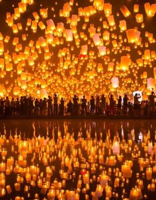 Pingxi Sky Lantern Festival, em Taiwan. Fonte: http://diana212m.blogspot.com.br/