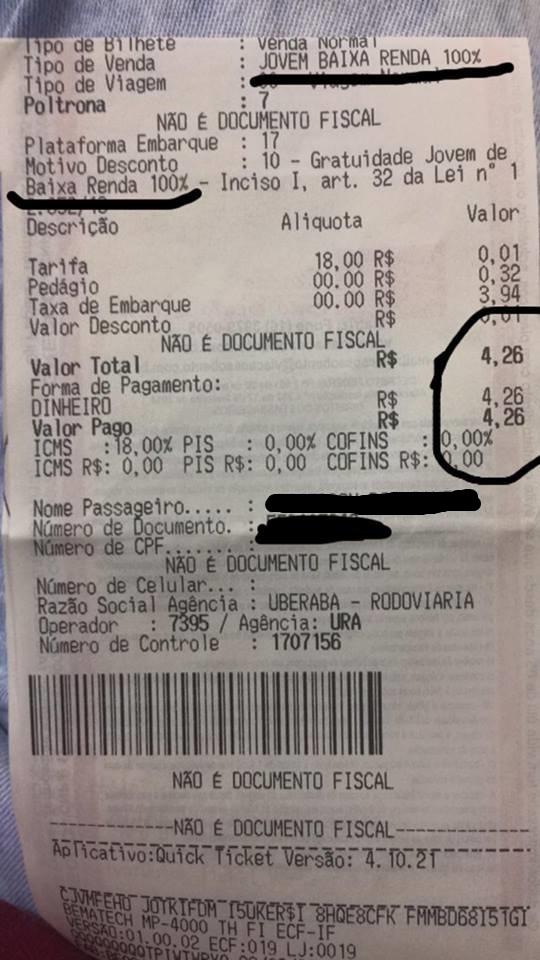 uberaba franca 4 reais